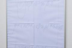 Affiche, impression laser sur papier 90 gr, 58,4 x 84 cm, encadrement aluminium