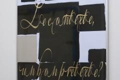 Gouache, impression laser, sur papier 90 gr, montage sur carton, 84 x 58,4 cm, encadrement aluminium